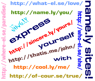 Name.ly sites collage